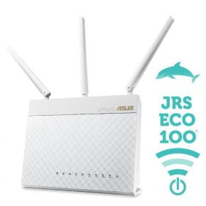 Lavstraalende WiFi router JRS Full Eco 100 - D2 hvid